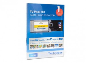 TV-Pack HD Technisat moduł Conax, karta Smart HD+