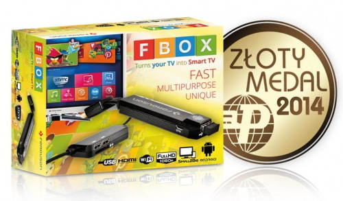 Ferguson FBOX Android Smart TV dongle Złoty Medal 2014
