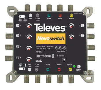 Multiswitch 5x5x6 NevoSwitch Televes 714502