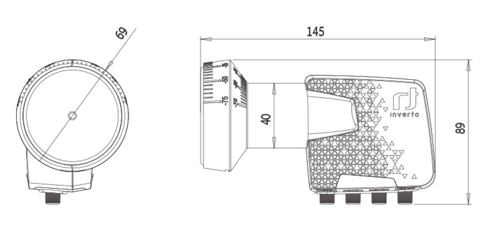 Konwerter Inverto Quattro Home Pro - rysunek techniczny