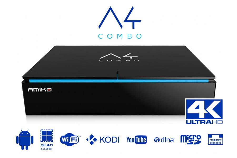 Amiko A4K Combo tuner satelitarny DVB-T, DVB-S2, DVB-T