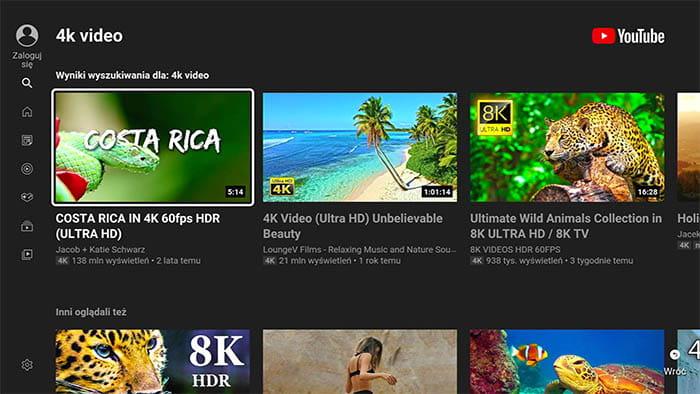ovako izgleda aplikacija youtube